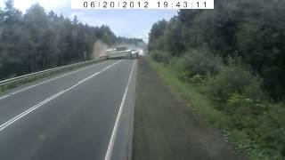 У грузовика отказали тормоза на М5