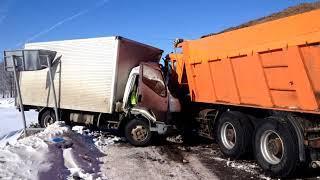 ДТП с участием грузовых автомобилей в Краснокамском районе