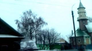 Янаул из окна автомобиля - я приехал в Башкортостан и смотрю на проплывающие дома Яңауыл