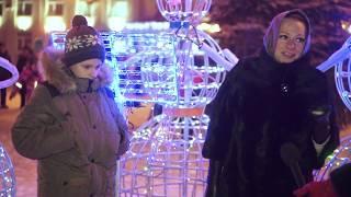 Городская новогодняя ёлка на Площади Советов
