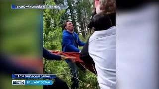 На горнолыжном курорте в Башкирии женщина повисла на подъемнике, спасая своего ребенка