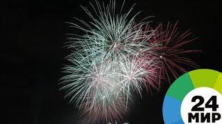 В Минске запустили праздничный салют в честь Дня Победы - МИР 24