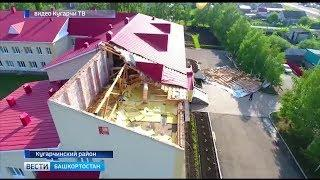 Сильный ветер в Башкирии сорвал крышу со здания школы