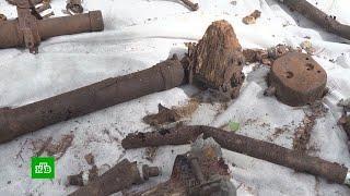 В Калужской области поисковики нашли обломки советского истребителя