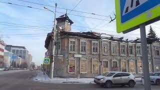 РОССИЯ RUSSIA БАШКИРИЯ электротранспорт Уфа ТРАМВАЙ TRAM  19 февраль 2021дом  памятник архитектуры