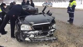 Видео с места ДТП после неудачного обгона