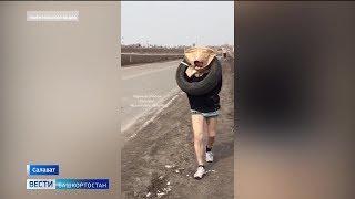 «Воры в картоне»: как двое мужчин оказались на трассе в Башкирии без штанов и с колёсами на шее?