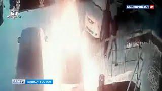 В Уфе двое мужчин на глазах у хозяйки подожгли ее автомобиль (ВИДЕО)