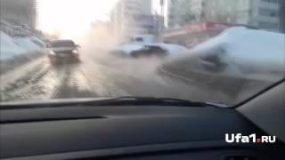 В Уфе улица ушла под воду