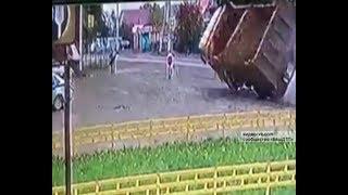 Появилось видео аварии, произошедшей в селе Михайловка Уфимского района
