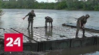 В Башкирии установили понтонный мост через реку Белую - Россия 24