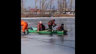 В Уфе спасатели попытались спасти тонущего рыбака | Ufa1.RU