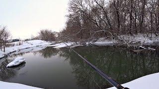 Рыбалка на спиннинг в марте 2019. Рыбалка на сказочной речке.