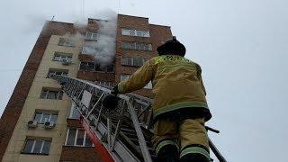 Пожар на Бульваре Ибрагимова в Уфе