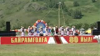 "450 человек одновременно танцуют башкирский танец.Сабантуй -2009,  Учалы,  ""Байрамгул"","