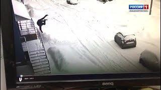 Упал с 8 этажа и разбился: несчастный случай в Стерлитамаке попал на видео