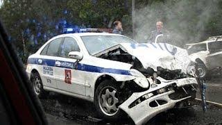 Подборка страшных ДТП с полицейскими автомобилями