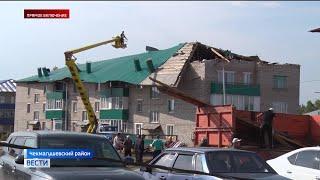В Башкирии подсчитывают убытки от бушевавшего урагана
