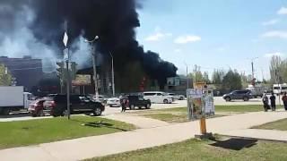 г. Октябрьский, горит аквапарк, пожар