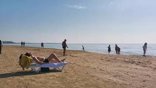 Турция зимой, 2 января 2021 г. Пляж/бар на пляже отеля PrimaSol Hane Garden