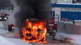 В Уфе сгорел автобус