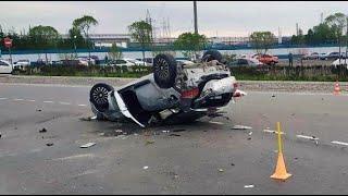 Три пьяных девушки вылетели из машины Дтп в Тобольске