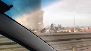 В селе Булгаково Уфимского района сегодня утром произошел крупный пожар