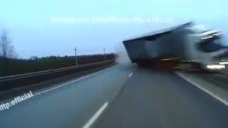 У фуры лопнуло колесо: столкновение грузовика и фургона под Уфой сняли на видео