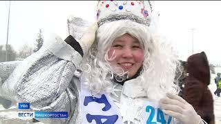 Более 500 Снегурочек вышли на улицы Уфы в поисках Дедов Морозов