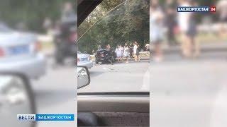 В массовой аварии на проспекте Октября в Уфе столкнулись шесть автомобилей