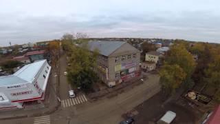 Центр города Бирск с высоты.