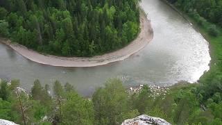 Вид с горы Зям - Зям, река Зилим, Башкирия.
