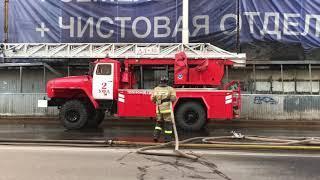 Крупный пожар на Карла Маркса в Уфе 24 июня