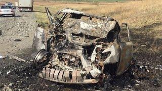 Житель Башкирии заживо сгорел в ДТП под Челябинском