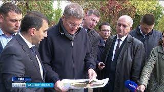 Радий Хабиров ознакомился с ходом реконструкции парков в северной части Уфы
