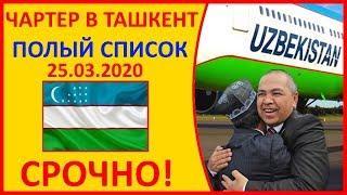 Срочно!! График всех Рейсов в Ташкент на март. Сколько стоит билет в Узбекистан
