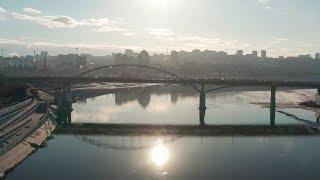 Летаем над рекой Белой в Уфе, 29 марта 2019