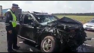 В крупной аварии под Уфой пострадали четыре человека