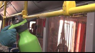 В Уфе показали, как дезинфицируют общественный транспорт