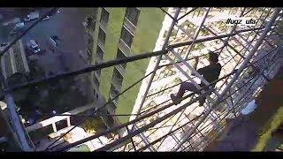 Мужчина почти час бегал от спасателей по лесам недостроенной многоэтажки в Уфе