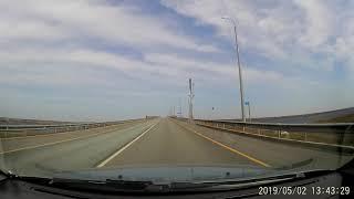 Ижевск-Бирск 2019  2 мая Переправа через Каму мост