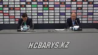 КХЛ. Барыс - Салават Юлаев. Пресс-конференция главных тренеров (5:3)
