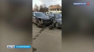 В Уфе пьяный водитель протаранил четыре машины на парковке и скрылся