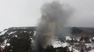 "Начало 2021, пожар на базе ""рублевка 21"" Заволжье, Чувашия."