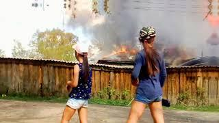Пожар в Баймаке 11.05.19 Баймак... Сгорело бывшее здание РУС