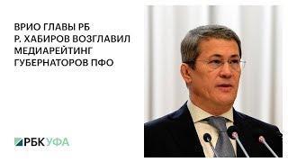 ВРИО ГЛАВЫ РБ Р ХАБИРОВ ВОЗГЛАВИЛ МЕДИАРЕЙТИНГ ГУБЕРНАТОРОВ ПФО