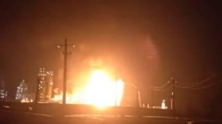 Уфа, Сильный пожар произошел на уфимском заводе, 9 февраля 2017