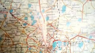Карта Южного Урала для путешествий.