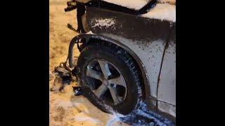 Момент аварии на объездной в Тюмени | 72.RU
