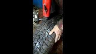 Ошиповка колёс в с. Жуково, Уфимский район